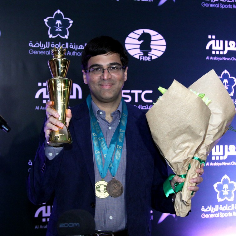 Vishy Anand world rapid champion riyadh 2018