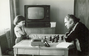 Mikhail Tal with daughter