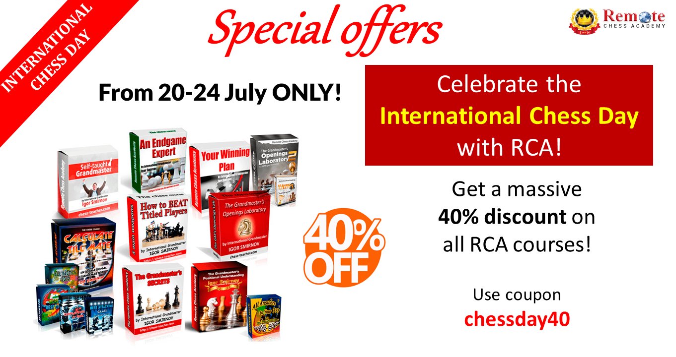 International Chess Day Special Offers