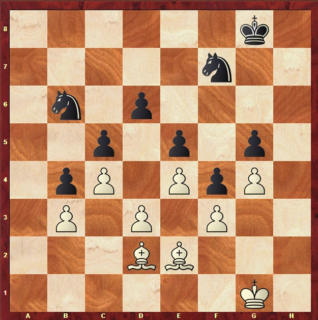 bishops vs knights - closed position